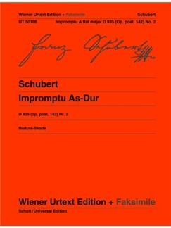 Franz Schubert: Impromptu A-flat D 935 Ab Op. Post. 142/2 D 935 Books | Piano