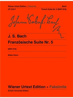 J.S. Bach: French Suite No.5  G BWV 816 Books | Piano