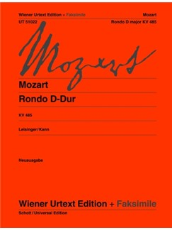 Wolfgang Amadeus Mozart: Rondo D K 485 (Original Edition And Facsimile) Books | Piano