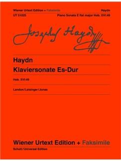Joseph Haydn: Piano Sonata E Flat Major Hob. XVI:49 Books | Piano