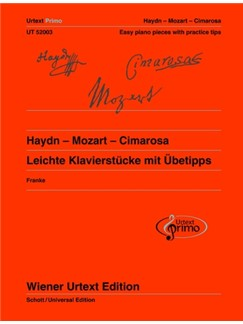 Urtext Primo Vol. 2: Haydn - Mozart - Cimarosa - Easy Piano Pieces With Practice Tips Books | Piano