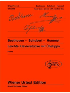 Urtext Primo Vol. 3: Beethoven - Schubert - Hummel  -  Easy Piano Pieces With Practice Tips Books | Piano