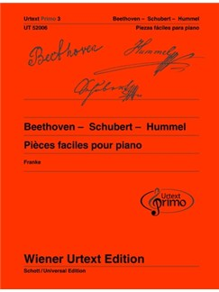 Urtext Primo Vol. 3: Beethoven - Schubert - Hummel  -  Easy Piano Pieces With Practice Tips (Spanish Edition) Books | Piano
