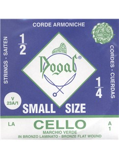Dogal: Green Tag Cello A String - 1/4-1/2  | Cello