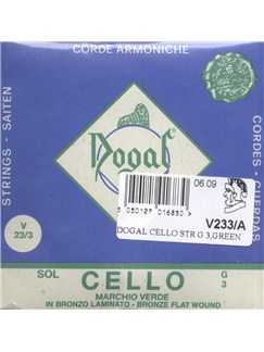 Dogal: Green Tag Cello G String - 3/4-4/4  | Cello