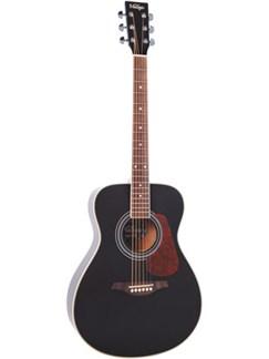 Vintage: V300 Series Folk Guitar (Black) Instrument   Guitare Acoustique