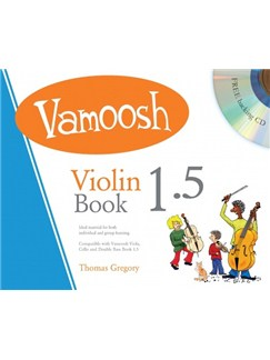 Vamoosh Violin Book 1.5 (Book/CD) CD et Livre | Violon