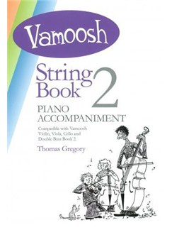 Vamoosh String Book 2 Piano Accompaniment Bog og CD | Klaverakkompagnement