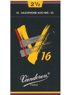 Vandoren: V16 Alto Saxophone Reed 2.5 (Box of 10)  | Alto Saxophone