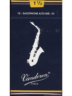 Vandoren: V25 Alto Saxophone Reed 1.5 (Box of 10)  | Alto Saxophone