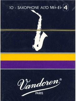 Vandoren: Alto Saxophone Reed (Strength 4) - Box Of Ten  | Alto Saxophone