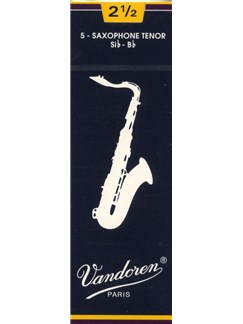 Vandoren: V26 Traditional Tenor Sax Reeds Strength 2.5 - Box Of 5  | Tenor Saxophone