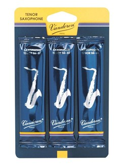 Vandoren: Traditional Tenor Saxophone Reeds - 1.5 (Pack Of 3)  | Tenor Saxophone