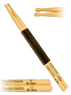 Musicroom: 5A Hickory Drumsticks - Wood Tip  | Drums