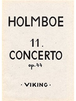 Vagn Holmboe: Concerto No.11 Op.44 For Trumpet And Orchestra (Score) Books | Trumpet, Horns, String Orchestra
