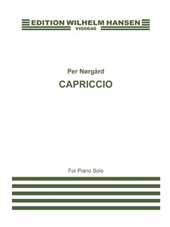 Per Nørgård: Capriccio For Piano Books | Piano