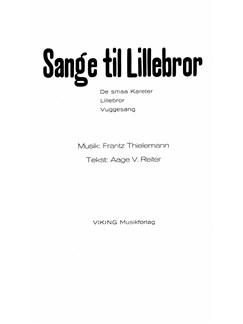 Frantz Thielemann: Sange Til Lillebror Bog |