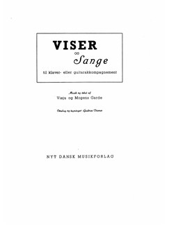 Mogens Garde: Viser Og Sange Books | Voice, Piano Accompaniment
