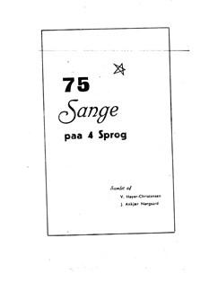 J. Ankjær Nørgaard: 75 Sange På 4 Sprog Books |