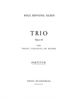 Poul Rovsing Olsen: Trio Op.18 (Score And Parts) Books | Chamber Group