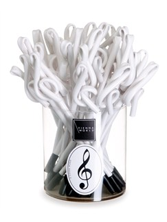 Vienna World: Pen Box - Treble Clef (White) Box Of 30  |
