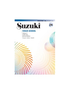 Suzuki Violin School - Vol.4 + CD (French/Spanish Edition) Books and CDs | Violin