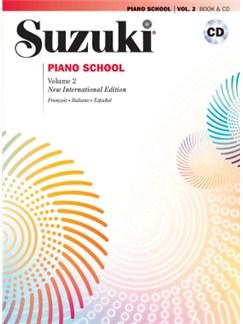 Suzuki Piano School - Vol.2 + CD (French/Spanish Edition) Books and CDs | Piano