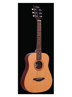 Vintage: Travel Guitar With Carry Bag (Natural) Instruments | Acoustic Guitar