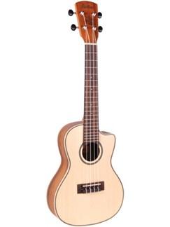 Laka: VUC80EA Concert Cutaway Electro-Acoustic Ukulele - Spruce/Koa Instruments | Ukulele