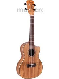 Laka: VUC90EA Concert Cutaway Electro-Acoustic Ukulele - Koa Instruments | Ukulele