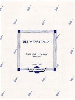 A. Blumenstengal: Viola Scale Technique - Book One Books | Viola