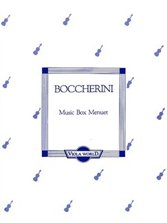 Luigi Boccherini: Music Box Minuet (Viola) Books | Viola, Piano