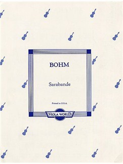 Carl Bohm: Sarabande For Viola And Piano Books | Viola, Piano Accompaniment