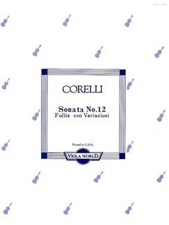 Corelli: Sonata No.12 La Folia Con Variazoni For Viola And Piano Books | Viola, Piano