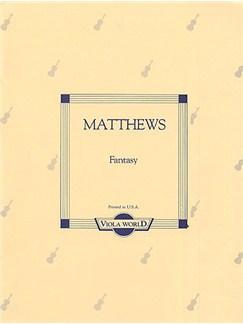 Matthews: Fantasy For Viola And Piano Books | Viola, Piano