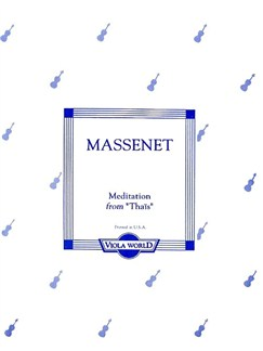 Jules Massenet: Meditation (Thais) (Viola) Books | Viola, Piano Accompaniment