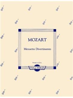 W.A. Mozart: Menuetto Divertimento (Viola and Piano) Books | Viola and Piano