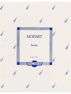 Mozart: Rondo For Viola And Piano Books | Viola, Piano