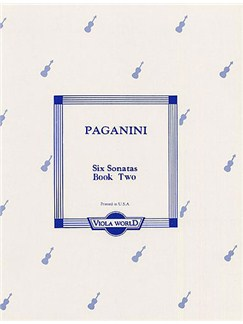 Niccolo Paganini: Six Sonatas Book 2 (4-6) Books | Viola, Piano Accompaniment