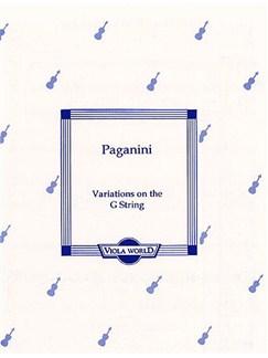 Niccolo Paganini: Variations On The G String (Viola) Books | Viola, Piano Accompaniment