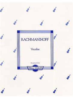 Sergei Rachmaninoff: Vocalise (Viola/Piano) Books | Viola, Piano