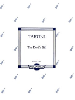 Giuseppe Tartini: The Devil's Trill (Viola) Books | Viola, Piano Accompaniment