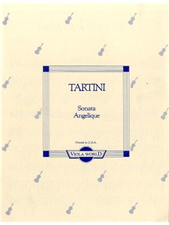 Guiseppe Tartini: Sonata Angelique (Viola) Books | Viola, Piano Accompaniment