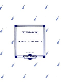 Henryk Wieniawski: Scherzo Tarantella (Viola) Books | Viola, Piano Accompaniment