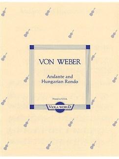 Carl Maria Von Weber: Andante And Hungarian Rondo For Viola And Piano Books | Viola, Piano