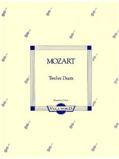 W.A Mozart: Twelve Duets K.487 Books | Viola (Duet)