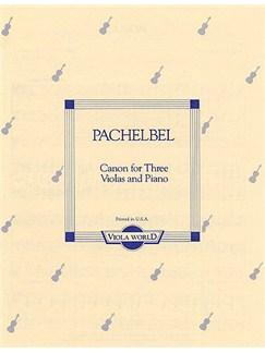Pachelbel: Canon For Three Violas and Piano Books | Viola (Trio), Piano Accompaniment