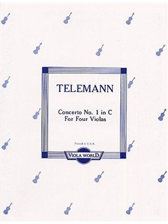 Georg Philipp Telemann: Concerto No.1 In C (4 Violas) Books | Viola (Quartet)