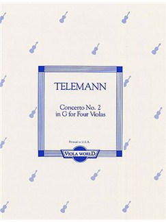 Telemann: Concerto No.2 In G (Four Violas) Books | Viola (Quartet)