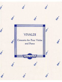 Antonio Vivaldi: Concerto For Four Violas And Piano Books | Viola (4), Piano Accompaniment
